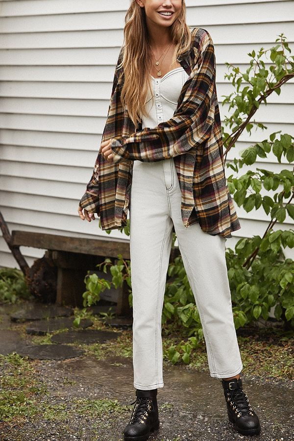 ea0d8967955e Shop UO Brendan Drapey Flannel Button-Down Shirt at Urban Outfitters today.  Discover more selections just like this online or in-store.