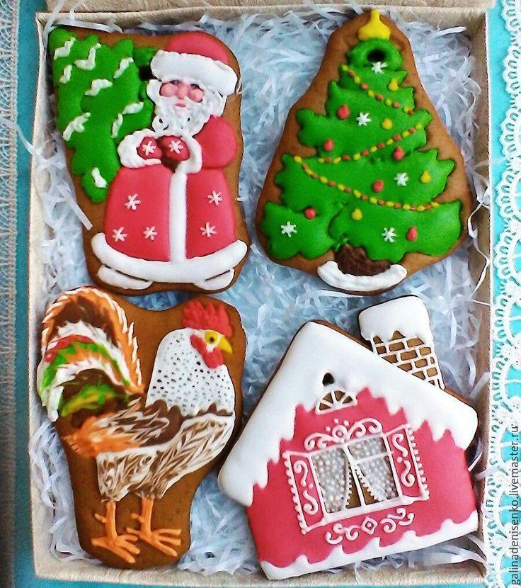 Купить или заказать Пряник на елку Дед Мороз в интернет-магазине на Ярмарке Мастеров. Яркий, ароматный , вкусный имбирный пряник может стать отличным новогодним сувениром. Цена указана для одного пряника , упакованного в целофановый пакетик. При желании пряник можно упаковать в индивидуальную коробочку +40 р ,или включить в состав набора пряников. Пряник можно использовать в качестве елочной игрушки.