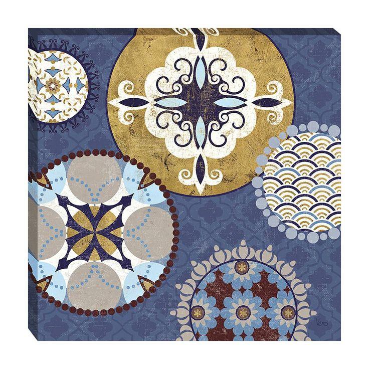 Home Decorative Mediterranean Blue III by Veronique Charron Framed Art Print