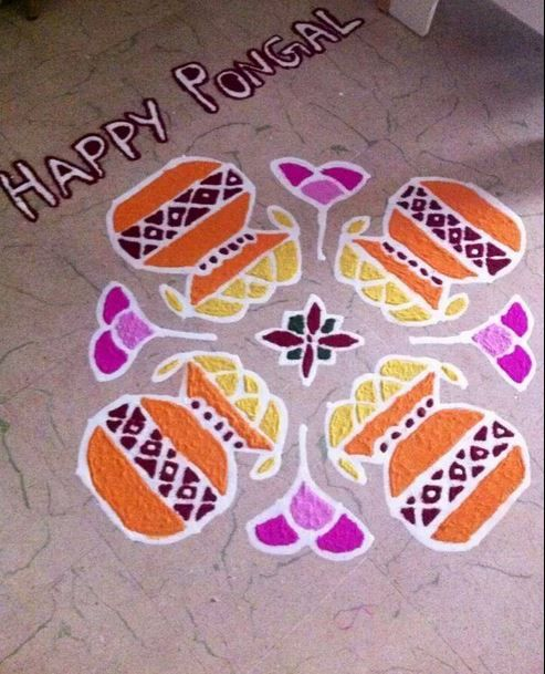 Kolam Designs with Dots for Pongal