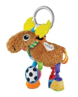 Lamaze Mortimer the Moose goes everywhere with us - he is a firm favourite