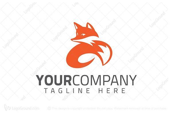 Logo for sale: Twirl Fox Logo