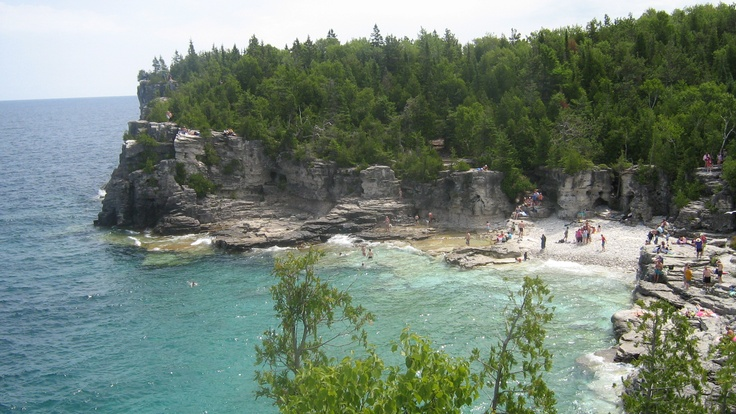 Swimming at Tobermory, Ont. Can.