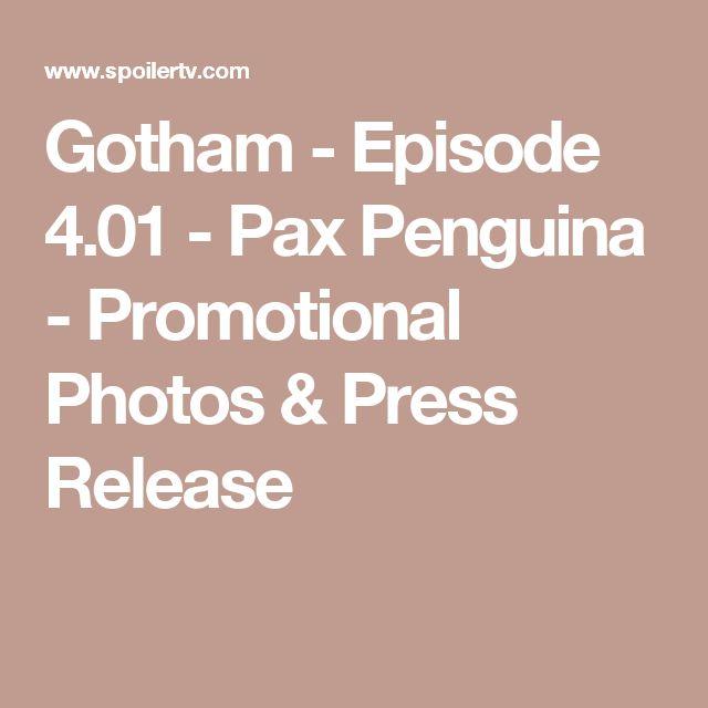 Gotham - Episode 4.01 - Pax Penguina - Promotional Photos & Press Release