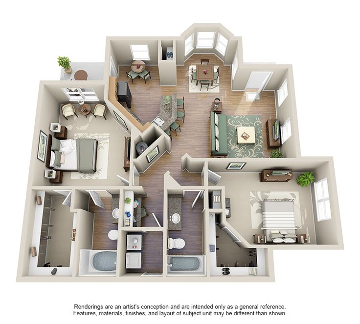 One two three bedroom apartments for rent villas at - 1 bedroom apartments for rent in houston tx ...