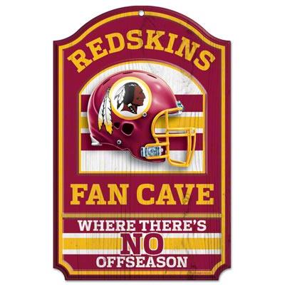 Washington Redskins Fan Cave 11x17 Wood Sign $18.99