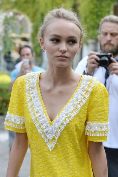 Lily-Rose Depp at the 73rd Venice Film Festival.