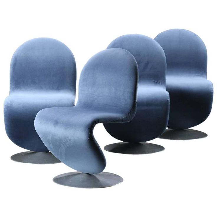 Set of Four Verner Panton Chairs by Fritz Hansen, circa 1970
