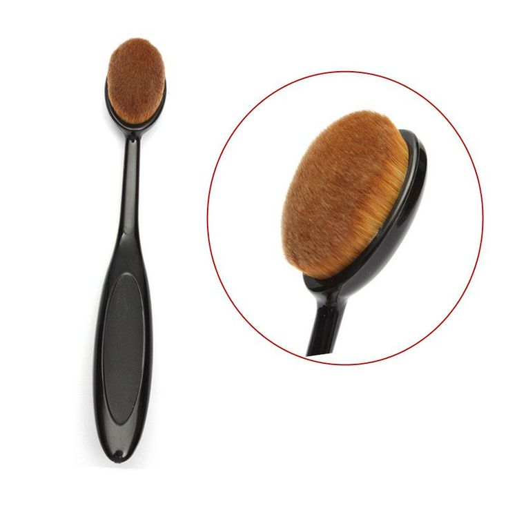 New Oval Cream Powder Makeup Brush Puff Cosmetic Foundation Blend Beauty Brushes Tools Random Color