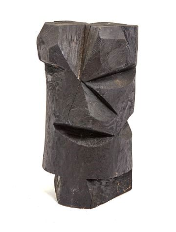 Arne Lindaas - Large Black Flower - Sculpture