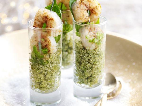 Pittige quinoa met scampi's - Libelle Lekker!