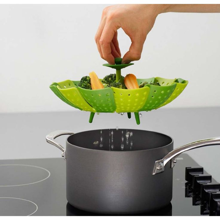 Lotus Plus Folding Non-scratch Steamer Basket Professional Kitchen Steamer Basket Multifunction Tool for Cooking Fruit Vegetable