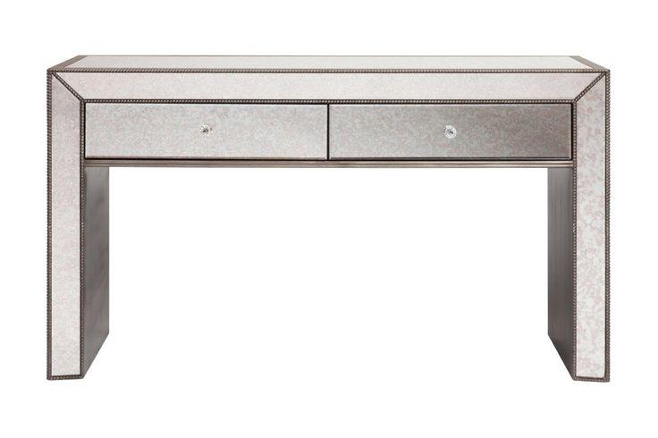 """Зеркальный туалетный столик Puente, из серии """"Зеркальная мебель"""".             Материал: МДФ, Зеркальное стекло.              Бренд: DG Home.              Цвета: Светло-серый."""
