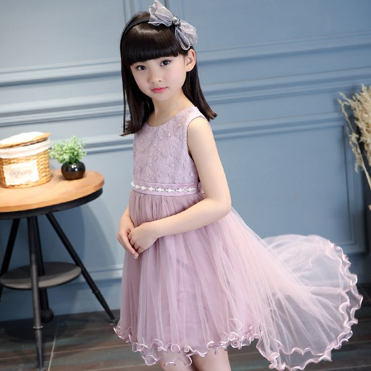 Princess Costume 3-13y Girls Party Dresses Summer Sundress Sleeveless Dance Wedding Dress Verkleed Kostuum Meisjes