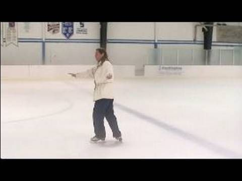 How to Ice Skate : How to do a T-Stop on Ice Skates