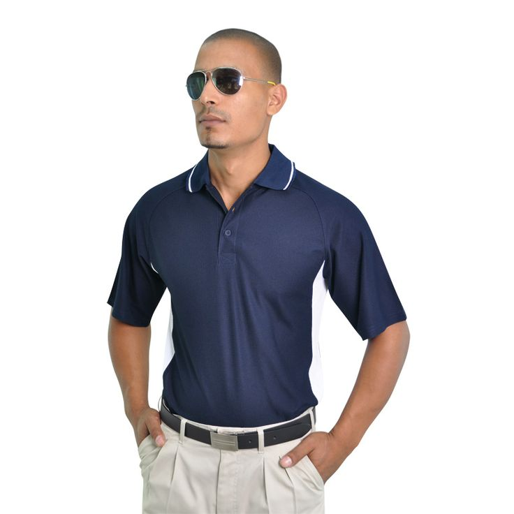 Side Paneled Sports Polo BRAND: TEE & COTTON Has high quality specialised polymicro fabric for maximum breathability and coolness and ideal for sporting activities or team building events