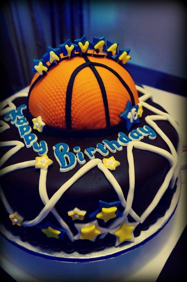 Birthday Cake For Basketball ~ Basketball inspired fondant birthday cake my homemade cakes pinterest