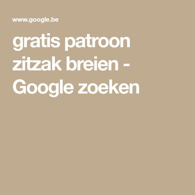 gratis patroon zitzak breien - Google zoeken
