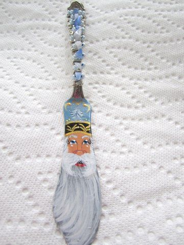Santa on vintage butter knife