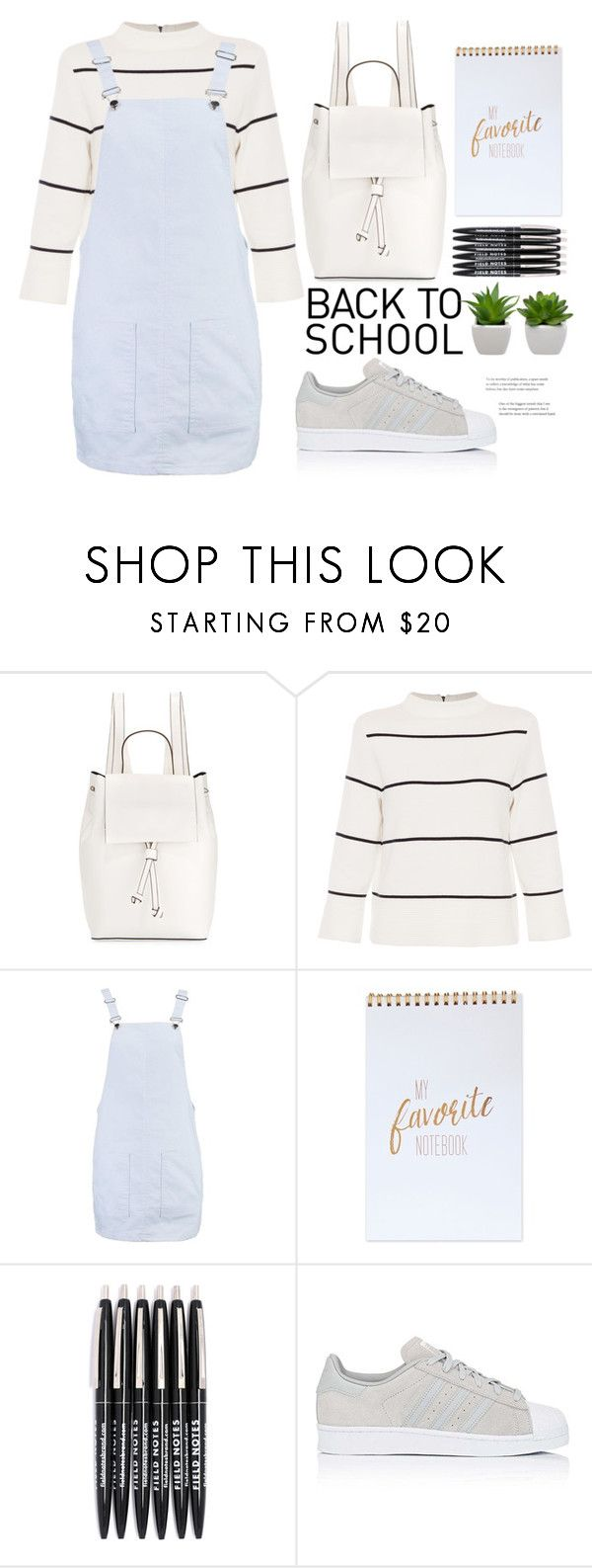 """""""back to school shopping"""" by mycherryblossom ❤ liked on Polyvore featuring French Connection, L.K.Bennett, Boohoo, adidas and BackToSchool"""