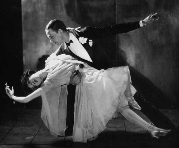 Fred Astaire danced with his sister, Adele, before Ginger came along. Little weird, but very cool picture