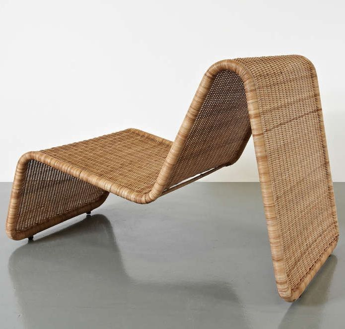 PHOTO by Fiona Drost; Tubular Metal and Wicker 'P3' Lounge Chair for Pierantonio Bonacina 1960