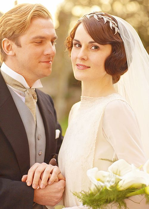 The wedding  | More Downton Abbey photos here:  http://mylusciouslife.com/historical-style-downton-abbey-photos/