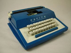 A blue petite typewriter, I had one of these! www.thecrampedcreative.com