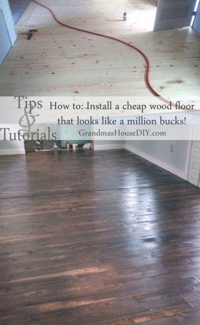 Wood Floor At Grandmas House Diy