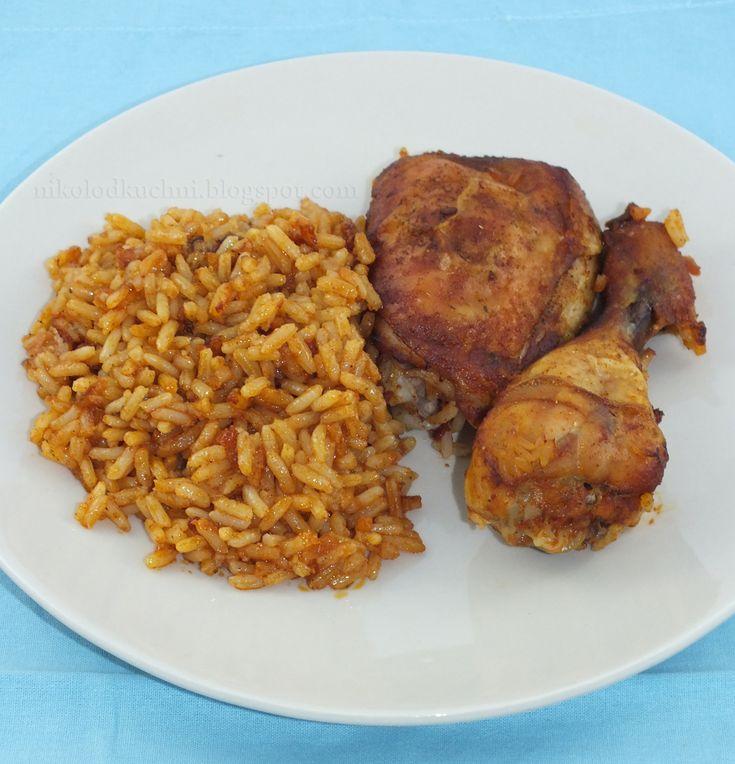 Kurczak pieczony na ryżu. Pyszny :)