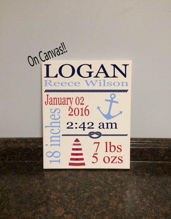 nautical nursery wall decor nautical baby shower gift birth