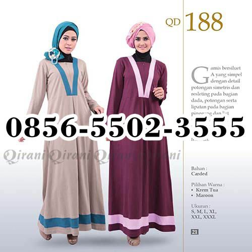 Gamis Qirani model 166, HP.0856-5502-3555,