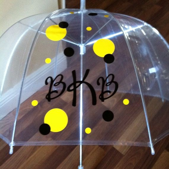 Personalized Clear Dome Umbrella Adult by younameitpersonalize, $22.00