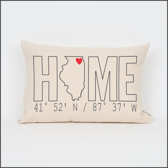 HOME Coordinates State Pillow Custom Pillow by FinchandCotter