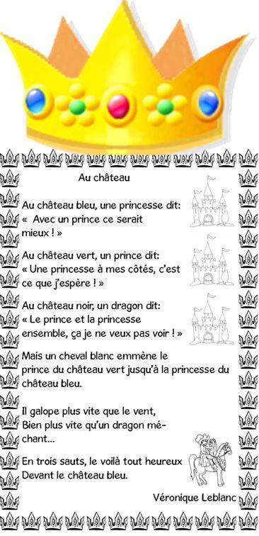 "Poésie ""Au château"" - Saperlipopette"