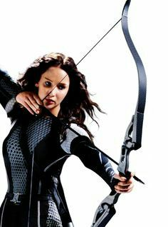 Jen as Katniss! One of the best movies and books EVER!