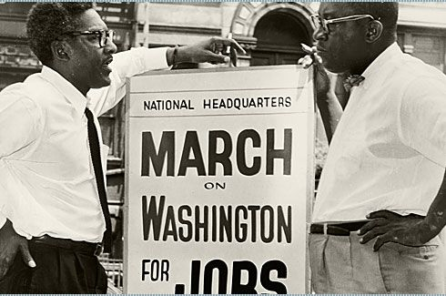 About 350,00 people attended the Civil Rights March on Washington. It was the largest demonstration ever seen in the nation's capital, and one of the first to have extensive television coverage.