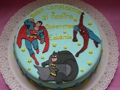 Decorazioni torte - Torta supereroi