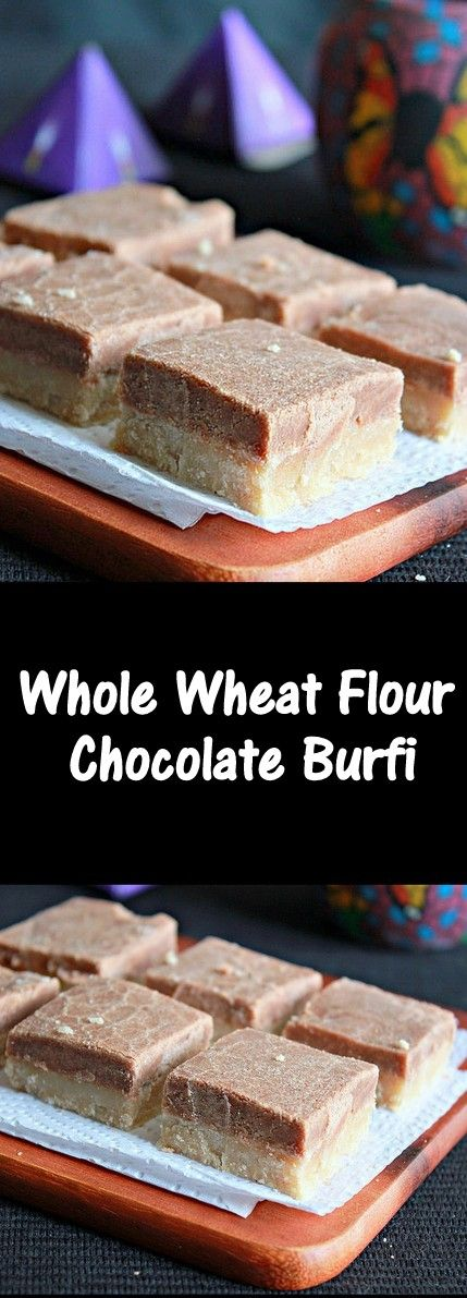 Whole Wheat Chocolate Burfi, easy and delicious..