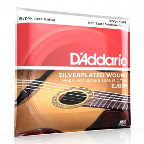 D'Addario EJ83M - cordes jazz manouche tirant medium 11 45