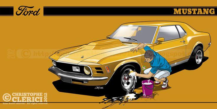 Les illustrations de christophe: Ford Mustang (Car Wash)