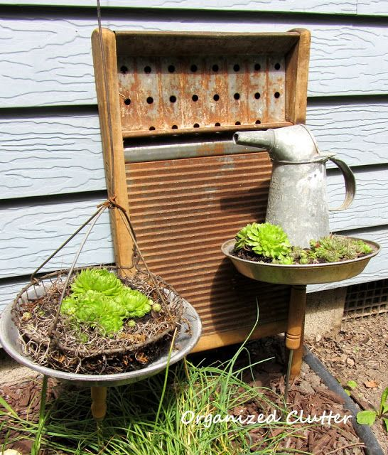 394 best images about garden junk on pinterest gardens for Upcycled garden projects from junk