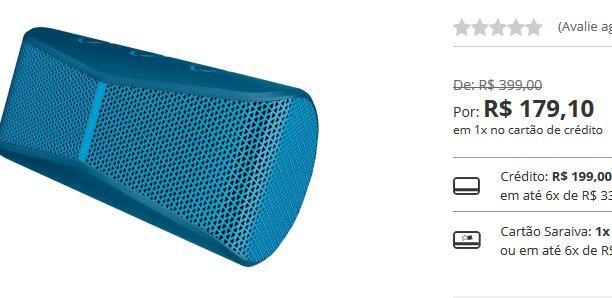 Caixa de Som Bluetooth Logitech X300 - 3 Cores Disponíveis << R$ 17910 >>