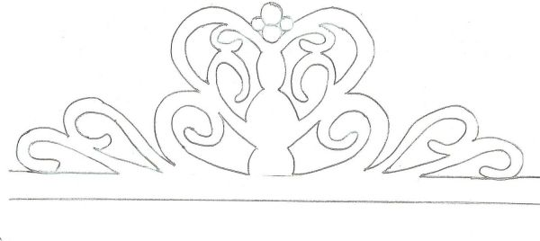 Gumpaste Crown Template  ApigramCom