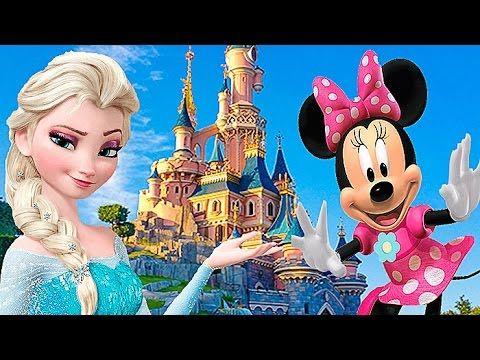 ДИСНЕЙЛЕНД и МИННИ МАУС Детский канал Настюшик в Париже Франция Kids euro show  Disneyland 2016 Vl