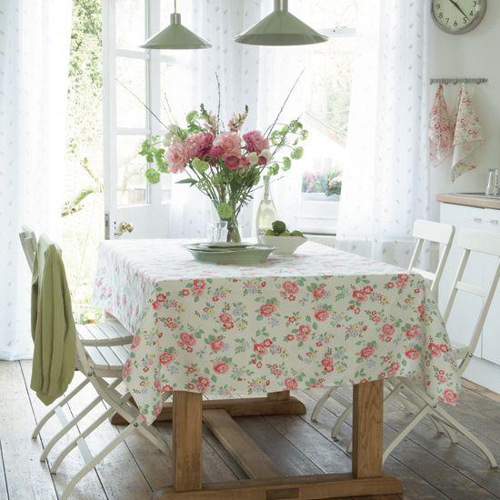 dining room with cath kidston fabric via housetohome