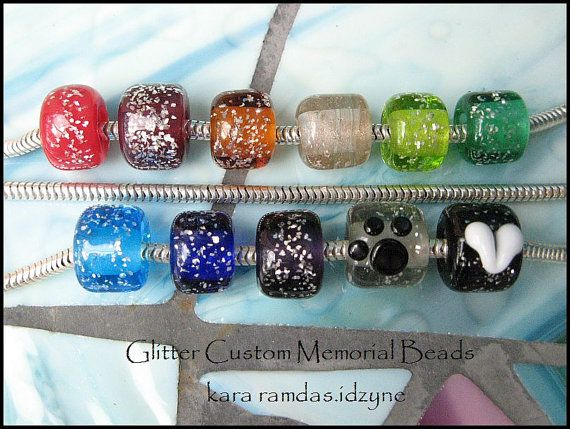 Custom Memorial Beads Cremation Jewelry For Bracelets