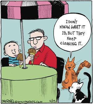 What The Cat Thinks of Ice Cream-Eating