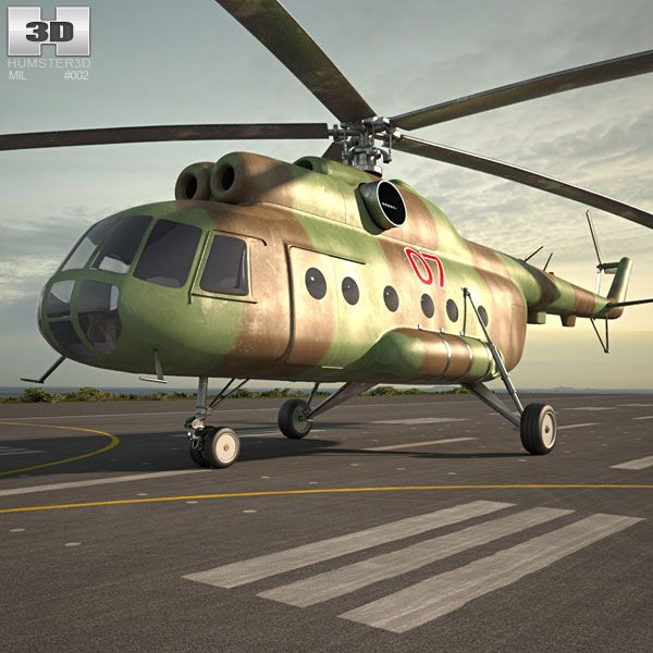 Mil Mi-8 3d model from Humster3D.com.