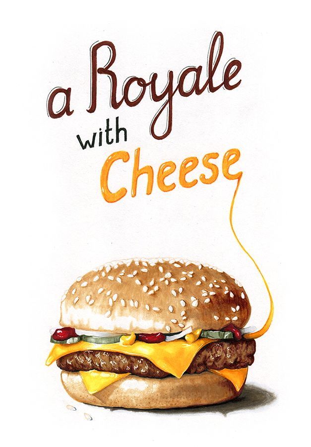 Hyperrealistic #copic marker drawings of fast food.